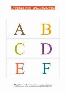 Printable flash cards in uppercase letters and numbers org for Uppercase letter flashcards