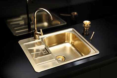 kitchen sink titanium gold brass finish kitchen sink stainless steel uk 2939