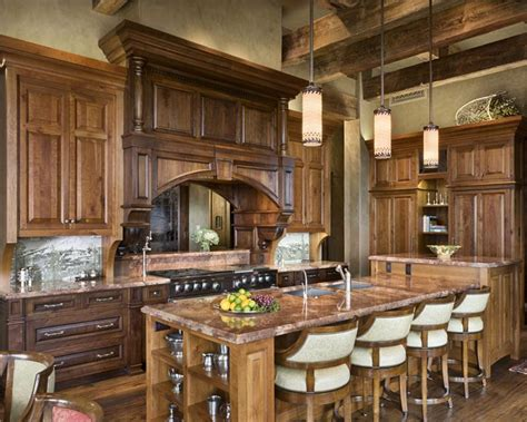Small Primitive Kitchen Ideas by Open Country Rustic Kitchen By Jerry Locati