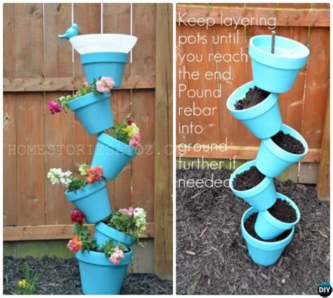 best 20 flower pot tower ideas on stacked