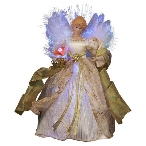 kurt adler angel tree topper kurt adler 12 in fiber optic led tree topper at hayneedle