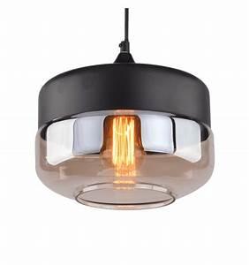 Suspension Luminaire En Verre Transparent : lampe de suspension ambr e achat luminaire amber ~ Teatrodelosmanantiales.com Idées de Décoration