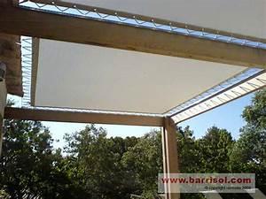 Protection Soleil Terrasse : toile protege soleil store d ombrage pour pergola chromeleon ~ Nature-et-papiers.com Idées de Décoration