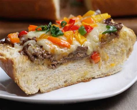 sandwich  la viande hachee  poivron vrai delice pour