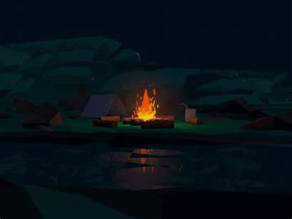 Campfire Low Fire Poly Dribbble Nguyen Draft