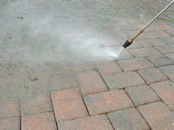 can i clean my pavers with a pressure washer the paver