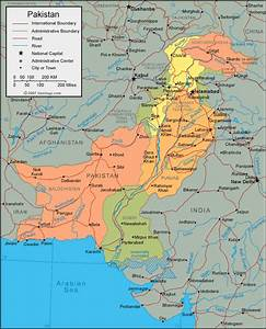 Pakistan Map and Satellite Image Pakistan