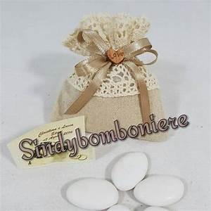 Sacchetti Portaconfetti Shabby Chic Segnaposto Matrimonio