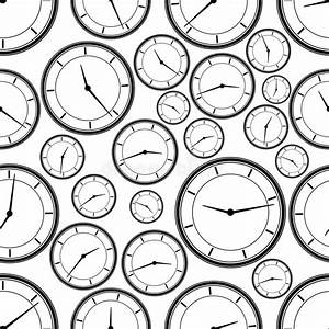 seamless repeating pattern of abstract clockvector stock With repeating timer no2