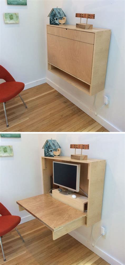 wall mounted desk ideas   great  small spaces