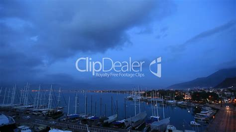Time Lapse Famous Town Fethiye Royaltyfree Video And