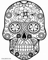 Sugar Skull Line Drawing Coloring Skulls Pages Getdrawings sketch template