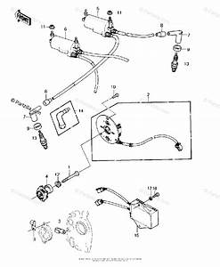 Kawasaki Motorcycle 1981 Oem Parts Diagram For Ignition   U0026 39 80 C2