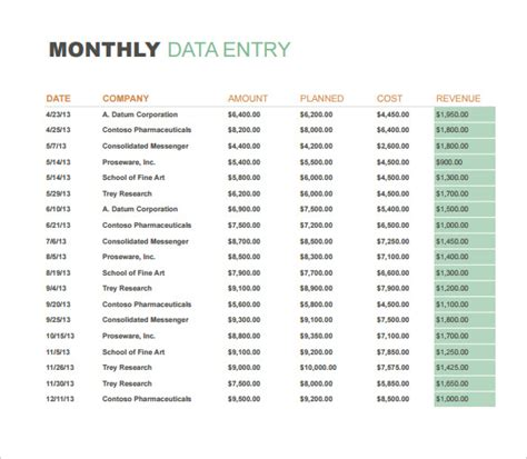monthly sales report templates  docs apple