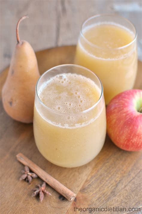 pear cider sparkling apple juicer recipe juice drink fresh fall sugar dietitian organic recipes refreshing beverage perfect smoothie theorganicdietitian