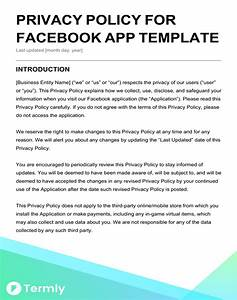 free privacy policy templates website mobile fb app With generic privacy policy template