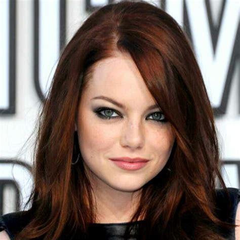 Emma Stone Auborn hair for Fall   Hair Color Ideas