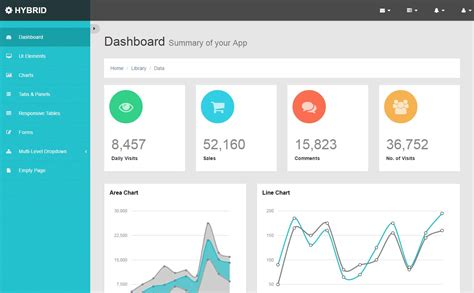 Base Template Bootstrap by 48 Free Html5 Responsive Admin Dashboard Templates 2017