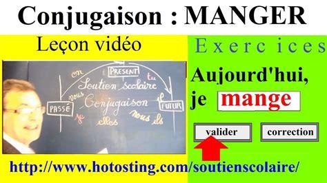 Tableaux de conjugaison des verbes français. Conjugaison ce1 ce2 - verbe manger 1er groupe : imparfait ...
