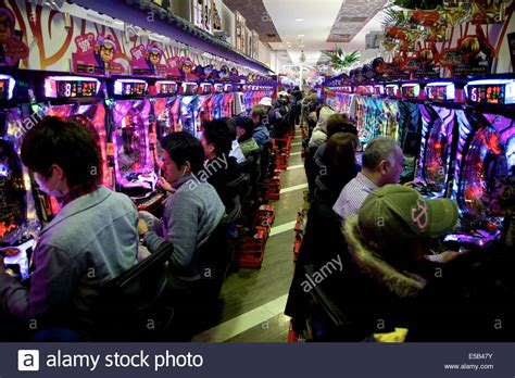 People Playing Pachinko Traditional Japanese Game