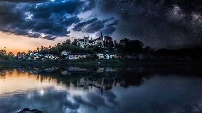 Night Castle Sky Wallpapers 4k Stars 8k