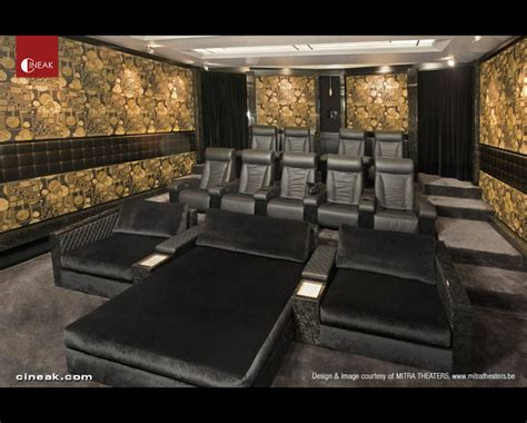 home theater with fortuny and intimo seats contemporary