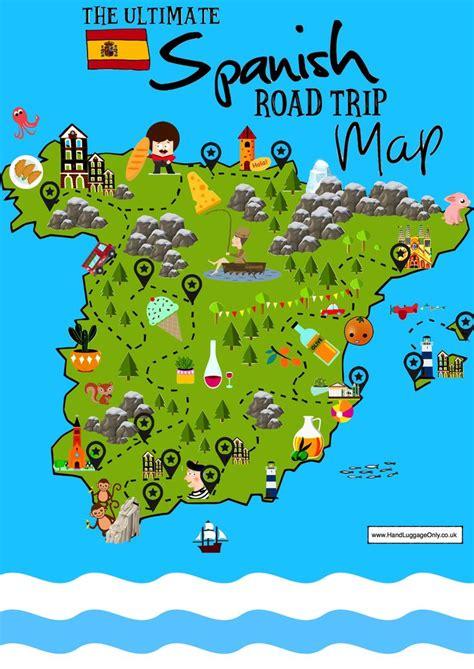 beautiful places  visit  spain mapa de espana mapas de viaje pueblos de espana