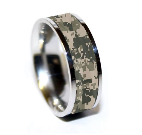 army tungsten ring army camo ring military camo