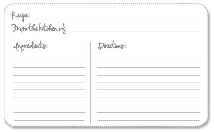 4x6 index card template pdf free printable recipe cards your way