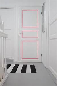 Wandgestaltung Mit Klebeband : wei e t r minimalistisch mit klebeband oder washi tape dekorieren interior pinterest t ren ~ Markanthonyermac.com Haus und Dekorationen