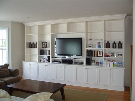 Wall Cabinets Living Room - lacquer painted wall unit
