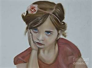 Sad Little Girl Painting by James Lavott