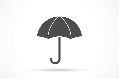 umbrella icon  white icons creative market