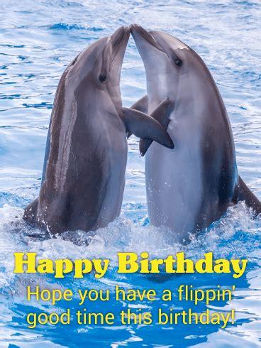 loving dolphins happy birthday card birthday greeting