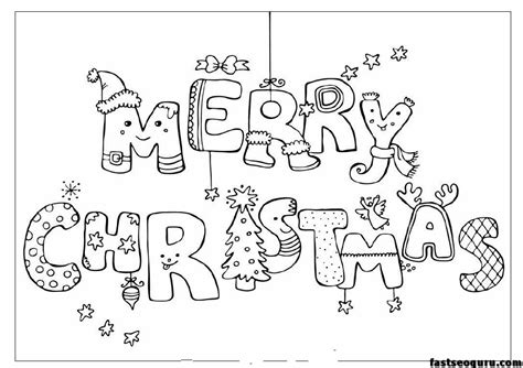 merry christmas print  coloring pages printable
