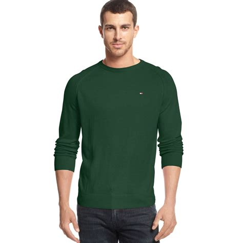hilfiger sweater hilfiger crewneck sweater in green for