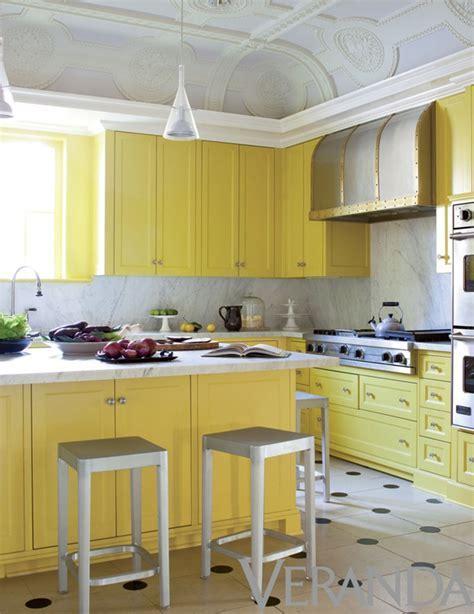 Lemon Yellow Kitchen Cabinets