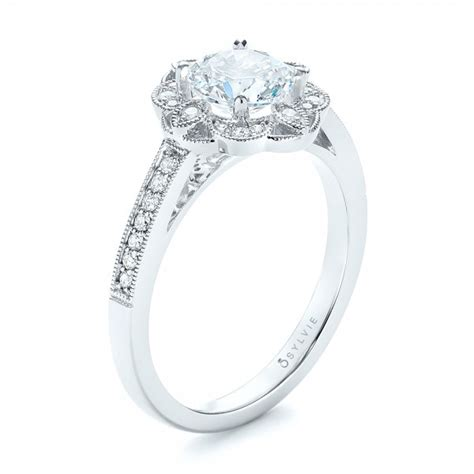 fancy halo engagement ring 103048