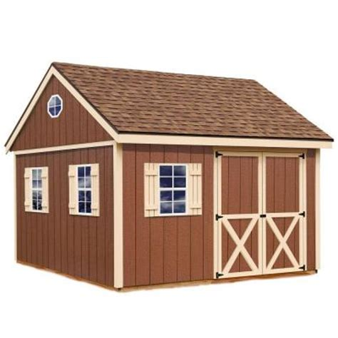metal shed kits home depot best barns mansfield 12 ft x 12 ft wood storage shed kit
