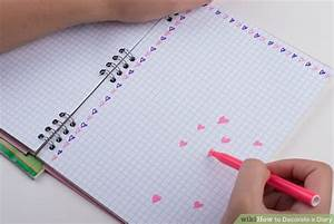 3 Ways to Decorate a Diary - wikiHow