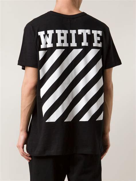 lyst white c o virgil abloh new caravaggio cotton t