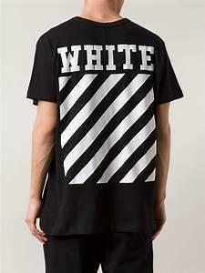 off white c o virgil abloh new caravaggio cotton t shirt in black for men  lyst 683ff59f4fe