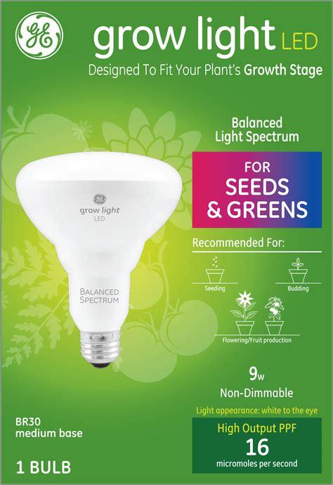 ge led  grow light br balanced spectrum light bulb  seeds greens  dimmable pk