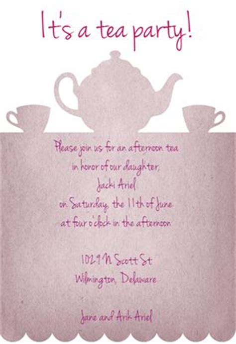 tea parties party invitation templates  invitation