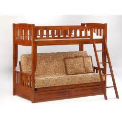 cinnamon twin over futon bunk bed at hayneedle