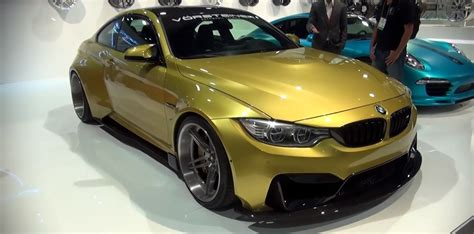 Bmw M4 Wide Kit by Vorsteiner Gtrs4 Kit For The Bmw M4 Is Wide At Sema