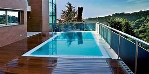 Piscine A Débordement : 3m et plus piscine coque polyester d bordement saint ~ Farleysfitness.com Idées de Décoration