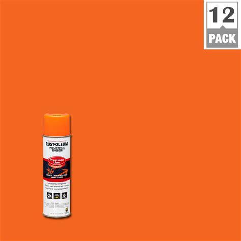 home depot orange rust oleum industrial choice 17 oz florescent orange inverted marking spray paint 12 pack