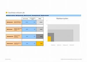 Absatzpotenzial Berechnen : marktkennzahlen marktpotenzial marktvolumen absatzpotenzial absatzvolumen excel tabelle ~ Themetempest.com Abrechnung