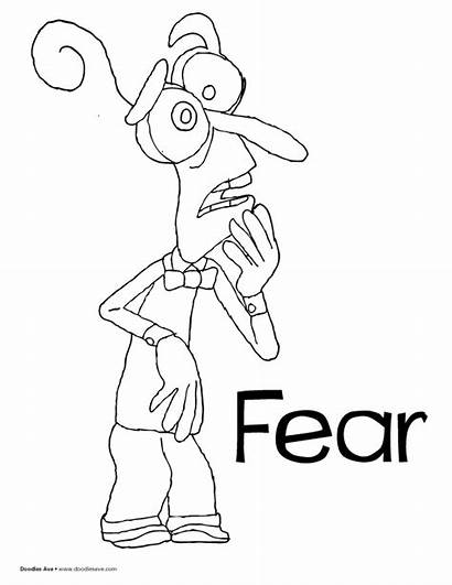 Fear Coloring Inside Pages Characters Sheets Drawing